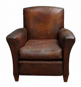 Distressed Leather Club Chair | Olde Good Things