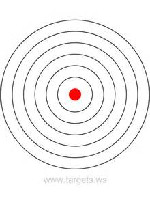 targets print your own bullseye shooting targets