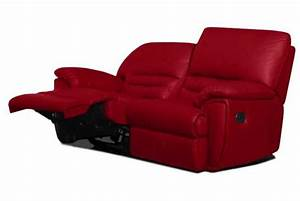 canape relaxation 2 places en cuir cocoon design sur sofactory With canapé cuir rouge relax