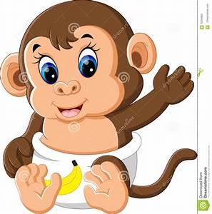 Cartoon Cute Baby Monkey   www.pixshark.com - Images ...