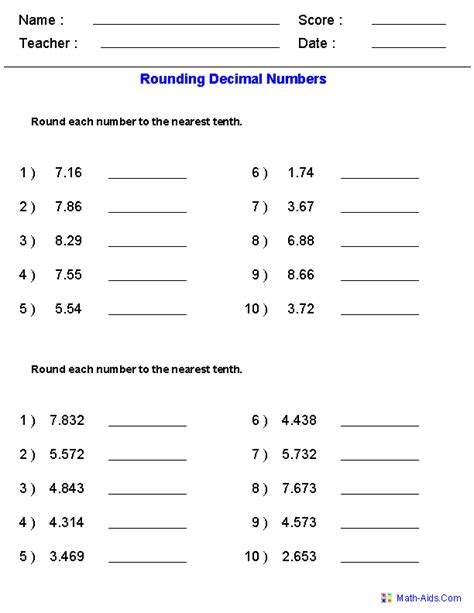 rounding worksheets with decimals this worksheet was built