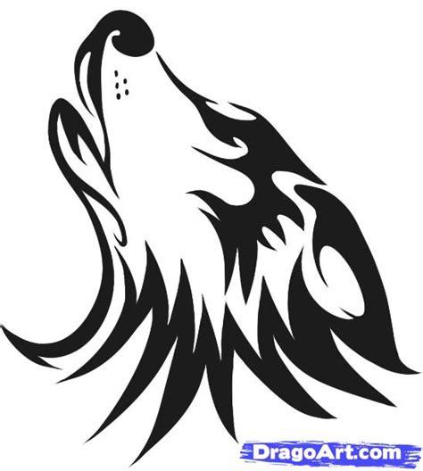 wolf head cartoon howling