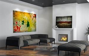 Tableau Salon Moderne : tableaux d co comment choisir l 39 art dans le salon moderne ~ Farleysfitness.com Idées de Décoration