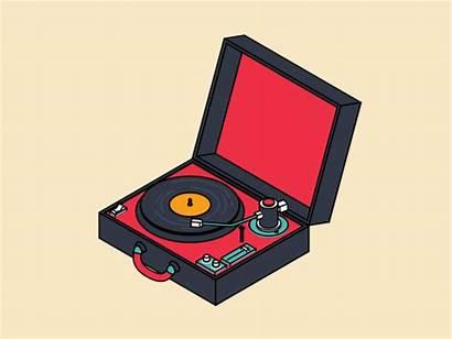 Turntable Sketch Cinema Toon Line 4d Vinyl