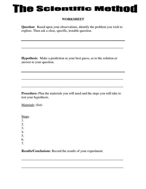 best 25 scientific method worksheet ideas on