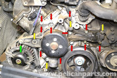 Mercede 98 C280 Serpentine Belt Diagram by Mercedes W203 Water Replacement 2001 2007