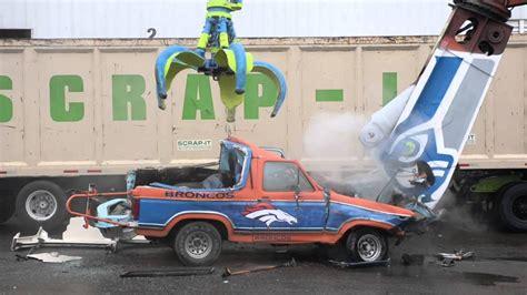seahawk fans destroy bronco youtube