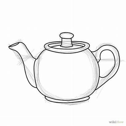Tea Drawing Draw Teapot Pot Coffee Drawings
