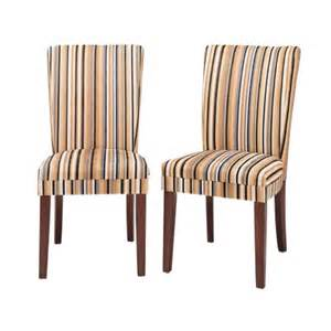 Brookline Tufted Dining Chair by Sasha Upholstered Stripe Fabric Dining Chair Wood Multi