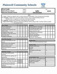 free report card template free business template With high school report card template word