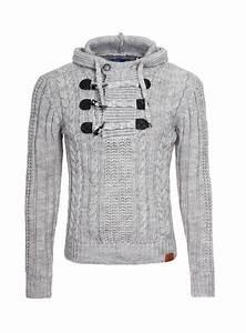 Gros Pull Laine Homme : pull en laine homme capuche gris 5502 ~ Louise-bijoux.com Idées de Décoration