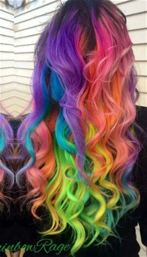 Best 25 Rainbow Dyed Hair Ideas On Pinterest Colored