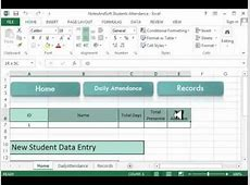 Excel VBA project Project on Daily Attendance Sheet