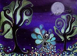 Kunst Online Shop : elfe illustration magie vollmond von puntopazzo online shop f r kunst und katzen auf ~ Orissabook.com Haus und Dekorationen