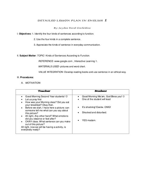 worksheet on kinds of sentences according to structure
