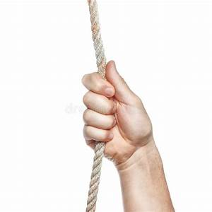 Man's Hand Holding On To The Rope. Stock Photo - Image ...