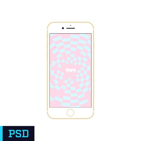 iphone 7 template flat vector mockup photoshop template for apple iphone 7 gold