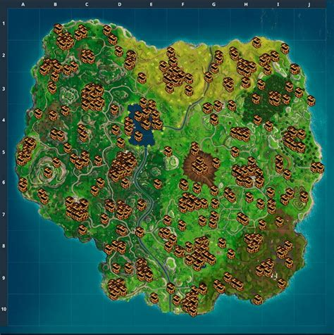 fortnite battle royale chest map loot map pc ps