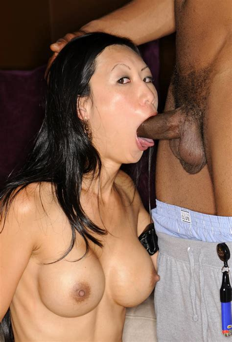 Shaved Pussy Japanese Chick Deepthroat Big Black Cock