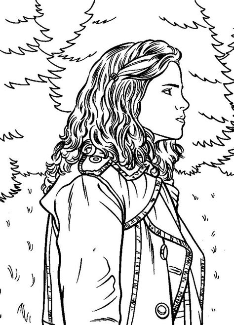 Harry Potter Hermione Coloring Pages SelfColoringPages