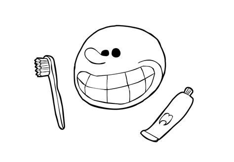 dibujo  colorear cepillarse los dientes img