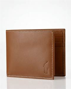 Polo Ralph Lauren Burnished Leather Passcase Wallet