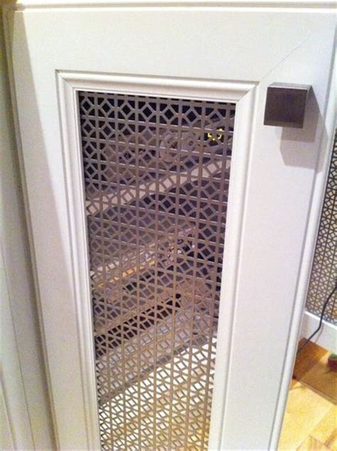 decorative metal screen for cabinets remove center doors on cabinet replace with perforated