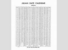 Julian Calendar printable calendar templates