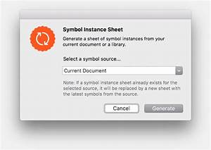 symbol instance sheet the sketch app hub With document library plugin