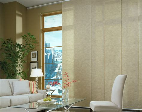 Contemporary Blinds by Panel Track Blinds Contemporary Living Room Brown