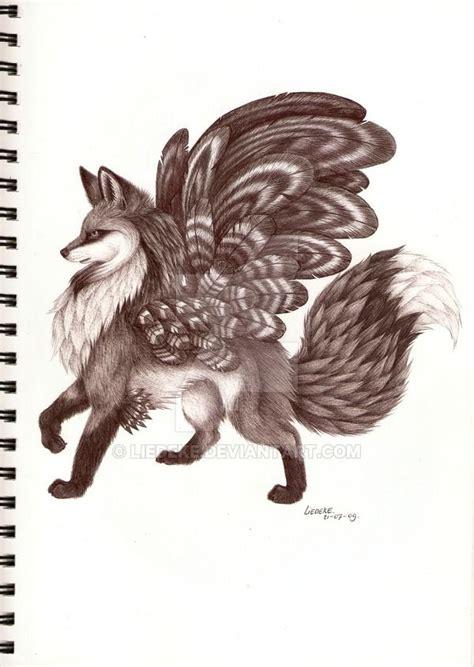 winged fox  liedekedeviantartcom  atdeviantart art