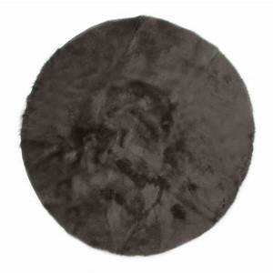 tapis rond gris fonce pilepoil decoration smallable With tapis rond gris