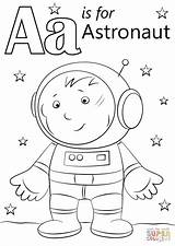 Astronaut Coloring Letter Pages Airplane Alphabet Printable Space Crafts Colouring Preschool Printables Drawing Supercoloring Toddler Super Puzzle Animal Moon Planets sketch template