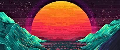 Outrun Sunset Widescreenwallpaper Sun