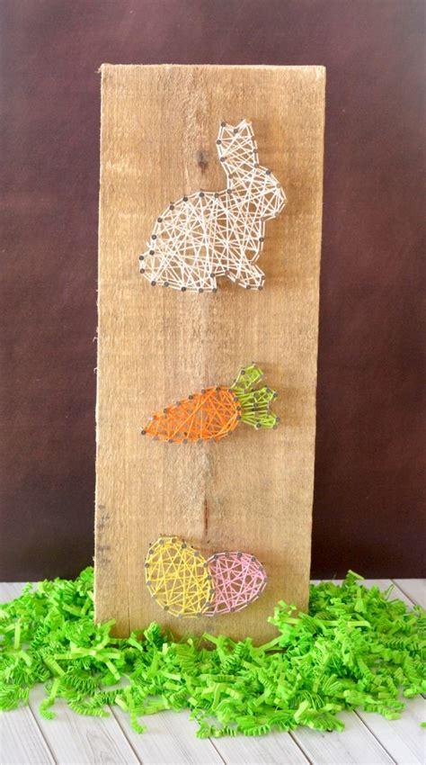 easter string art home decor craft bunny carrot  egg