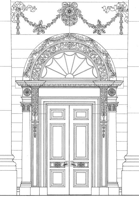 white house door portico white house museum