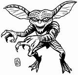 Coloring Pages Horror Gremlins Halloween Drawing Scary Adult Gizmo Colouring Sheets Sketch Bing Clipart Drawings Printable Rocky Sketchite Gremlin Monster sketch template