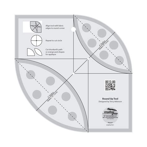 creative grids up tool and quilting ruler by atkinson terry patterns quilting tools