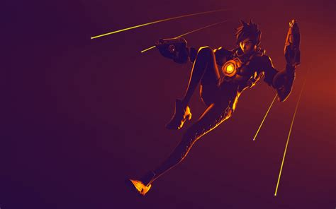 wallpaper tracer overwatch ultra hd  games