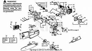 Poulan 2300av Gas Saw Parts Diagram For Power Unit