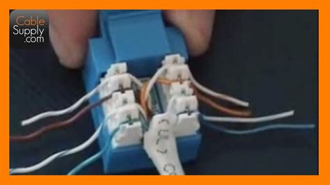how to cable a computer rj45 cat 5e youtube