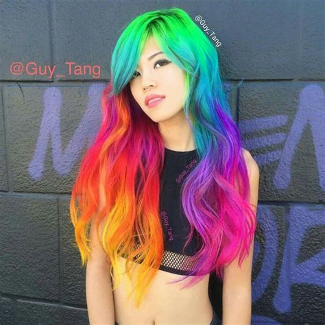Guy Tang Neon Mixed With Vivids Long Hair Length Cuts