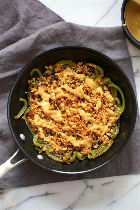 nachos taco bell meat cauliflower nacho cheese sauce vegan pepper queso tacos veganricha minute recipe dip soy