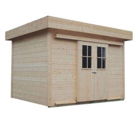 abri de jardin en bois pekka 224 toit plat castorama 10 m2