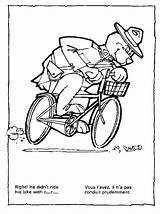 Bicycle Coloring Bike Printable Kb Drawing Safety sketch template