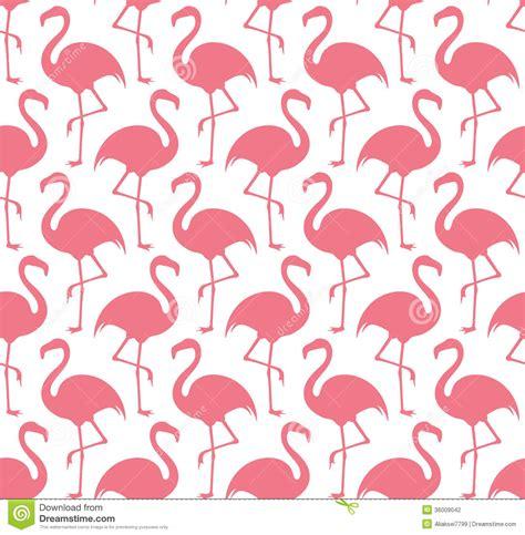 flamingo stock vector image  white wallpaper ornament