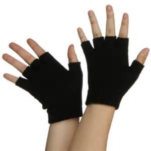 black fingerless gloves pair