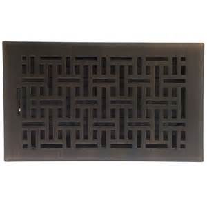 shop accord select wicker rubbed bronze steel floor register opening 10 in x 6 in