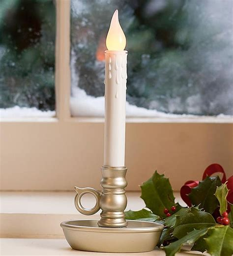 candles window candle battery led single operated christmas windows flameless holiday cordless plowhearth lights pack gold merry usa antique decor