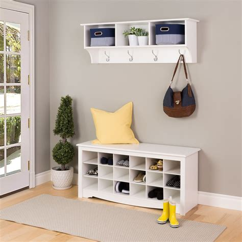 cubby shelf with hooks contemporary white monterey entryway shelf with hooks